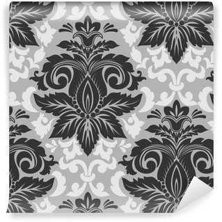 Vector damask seamless pattern element. Classical luxury old fashioned damask ornament, royal victorian seamless texture for wallpapers, textile, wrapping. Exquisite floral baroque template. Self-adhesive custom-made wallpaper