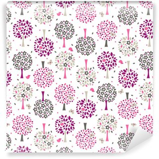 wallpaper seamless flower pattern Self-adhesive Custom-made Wallpaper
