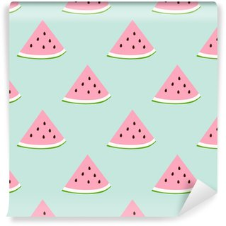 Watermelon seamless pattern with retro colors Self-adhesive custom-made wallpaper