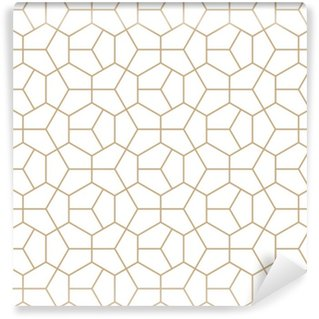 Abstrakt geometri guld deco kunst hexagon mønster Personlige selvklæbende tapet