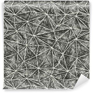 Abstrakt kunstnerisk håndtegnet mønster. Wire-frame trekant struktur Personlige selvklæbende tapet