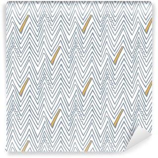 Enkelt sømløs vektor mønster med zigzag linjer Personlige selvklæbende tapet