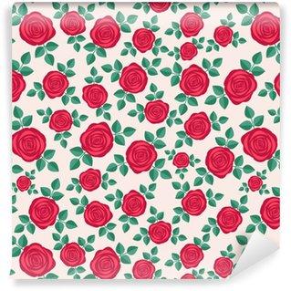 Sömlöst elegant blommönster med röda rosor. ditsy-utskrift. perfekt för scrapbooking, textil, papper etc. vektor illustration.