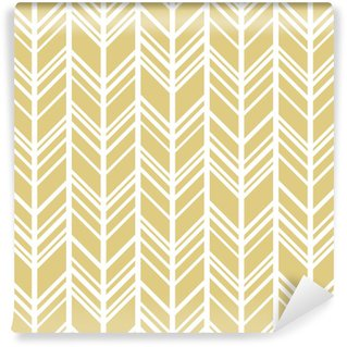 Vinyltapete nach Maß Chevron Hintergrund in Gold und Weiß. nahtloser Vektor-Muster