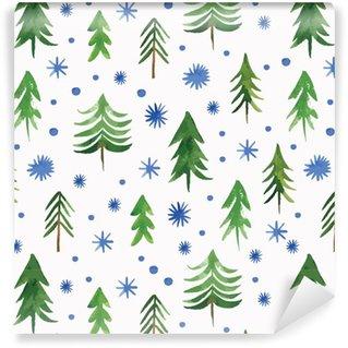 Vinyltapete nach Maß Christmas seamless pattern