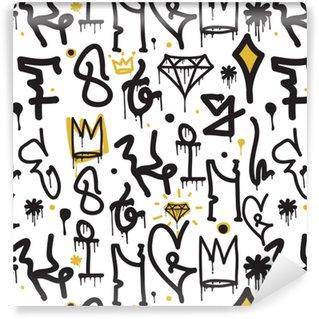 Vinyltapete nach Maß Graffiti Hintergrund nahtlose Muster