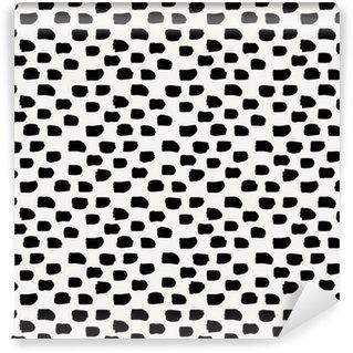 Vinyltapete nach Maß Hand gezeichnet abstrakte nahtlose Muster