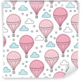 Vinyltapete nach Maß Nahtlose Luftballons Muster Vektor-Illustration