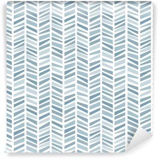 Vinyltapete nach Maß Nahtloser Hintergrund im geometrischen Muster der blauen Farben. Vektor-Illustration. Tapeten, Druckverpackungen, Textilien.