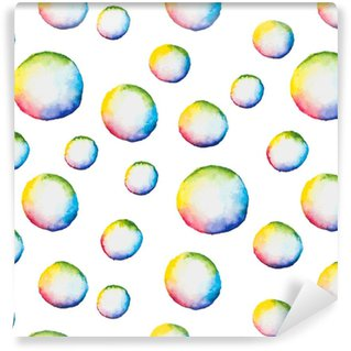 Vinyltapete nach Maß Vektor nahtlose Muster mit Aquarell Blasen
