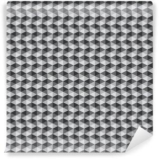 Måttanpassad vinyltapet Abstrakt retro geometriska mönster svart och vit färgton vect