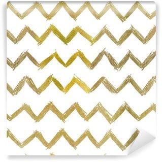 Abstrakt sømløs gyldent mønster Personlige vinyltapet