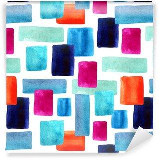 Måttanpassad vinyltapet Akvarell rektanglar med pappersstruktur bacground.