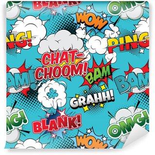 Spesialtilpasset vinyltapet Chat-choom sømløs tegneserier bakgrunn