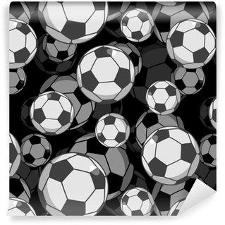 ae21f8ee6f5c Måttanpassad vinyltapet Fotboll boll 3d sömlöst mönster. sporttillbehör  prydnad. så