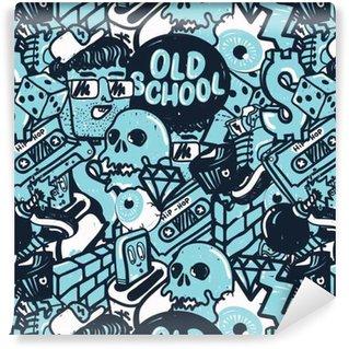 Graffiti sømløs mønster Vinyltapet