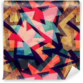 Spesialtilpasset vinyltapet Grunge geometriske sømløse mønster