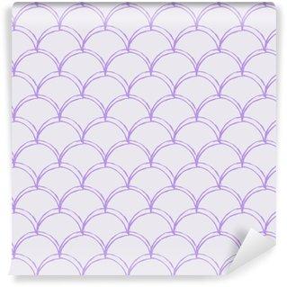 6e16599c Spesialtilpasset vinyltapet Havfrue skala sømløs mønster. fisk hud tekstur.  Tillable bakgrunn for jente stoff