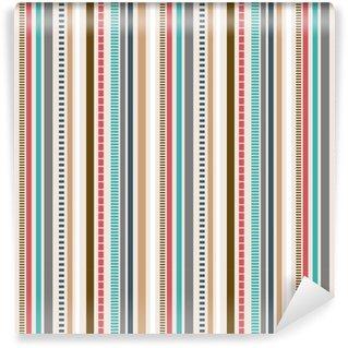 Måttanpassad vinyltapet Ränder sömlöst mönster; retrofärger mönster.