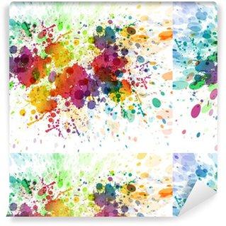 Raster version af abstrakt farverig splash baggrund Personlige vinyltapet