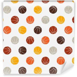 705e6fa559fe Måttanpassad vinyltapet Sömlöst mönster - basket