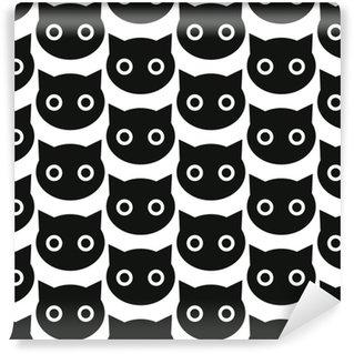 Sorte katte Personlige vinyltapet