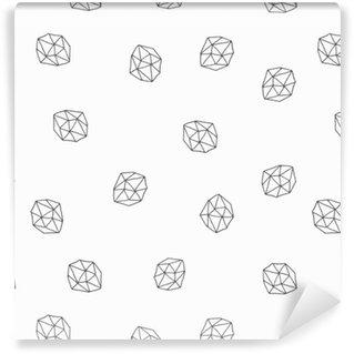 Abstrakti polygonit saumaton malli Räätälöity vinyylitapetti