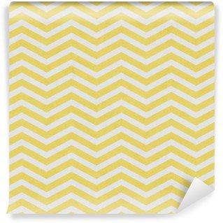 Vaalean keltainen ja valkoinen zigzag-kuvioitu kankaan tausta Vinyylitapetti