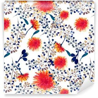 Vinylová Tapeta Akvarel bezproblémové vzorek s pampeliška. Květinové pozadí.
