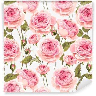 Vinylová Tapeta Anglické růže bezproblémové