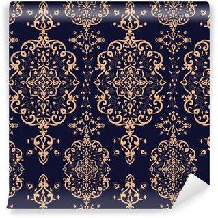 Vinylová Tapeta Barokní květinový vzor vektor bezešvé. viktoriánské luxusní textura pozadí. vinobraní květin ornament design pro tapetu, tkanina vzor, pozadí, koberec, balení, nábytkový textil.