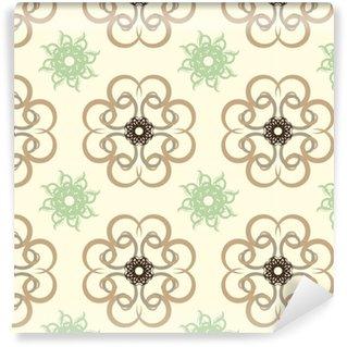 Vinylová Tapeta Bezešvé abstraktní květinovým vzorem, mandala vzor