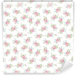 Vinylová Tapeta Bezešvé květinové vzory s malými květy růžové růže