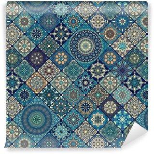 Vinylová Tapeta Bezešvé vzor. vintage dekorativní prvky. ručně tažené pozadí. islám, arabský, indický, osmanské motivy. ideální pro tisk na látku nebo papír.