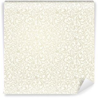 Vinylová Tapeta Bezproblémové pozadí světlé béžové barvy ve stylu damašku