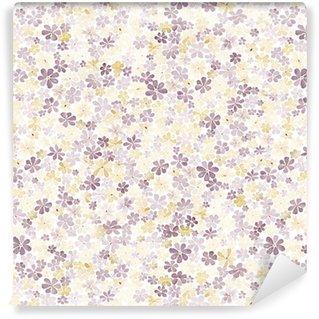 Vinylová Tapeta Bezproblémový vzor s malými hnědými a žlutými květy. akvarel malování.