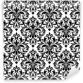 Vinylová Tapeta Černá a bílá bezproblémové tapety vzor.