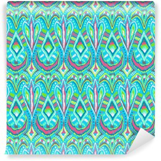 Vinylová Tapeta Etnické kmenové květinové ornamenty vzor světle modré
