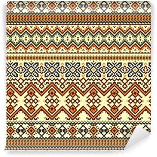 Vinylová Tapeta Etnický barevný bezešvé vzor.