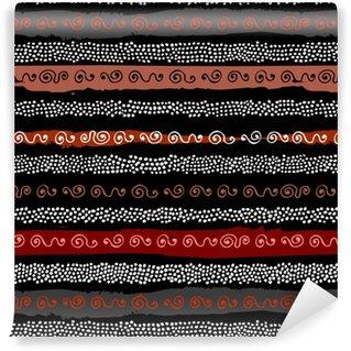 Vinylová Tapeta Etnický boho bezešvé vzor v africkém stylu na černém pozadí. tribal art print. nepravidelný vzor polka bodů.