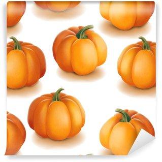 Vinylová Tapeta Halloween bezešvé vzor. pozadí s dýní.