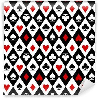 Vinylová Tapeta Hrací karty oblek symboly vzorek