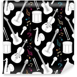 Vinylová Tapeta Hudební bezproblémový vzor s nástroji