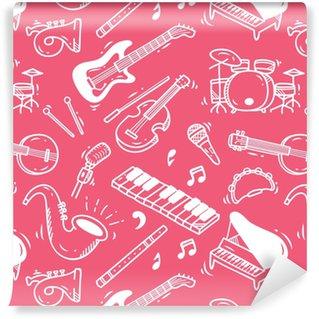 Vinylová Tapeta Hudební nástroj doodle pozadí