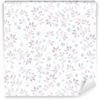 Vinylová Tapeta Jemné ditské květiny a listy. bezproblémové pastelové květinové vzory. vodové barvy