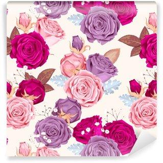 Vinylová Tapeta Krásné růže bezproblémové