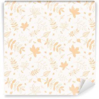 Vinylová Tapeta Několik vzorů na podzimní listí s bílým pozadím.
