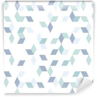 Tapeta na wymiar winylowa Niebieskie kształty diamentów