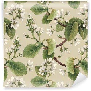 Vinylová Tapeta Ročník bezešvé vzor s akvarel jablečné květy