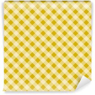 Żółty wzór kratkę
